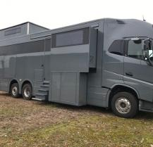 Luxe motorhome & car garage with lift